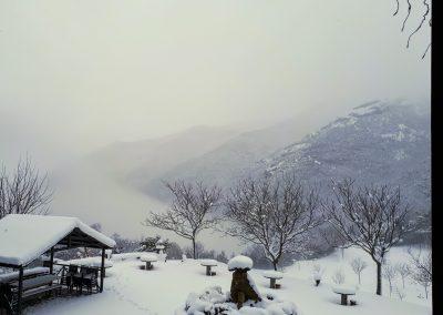 vistas terraza en invierno