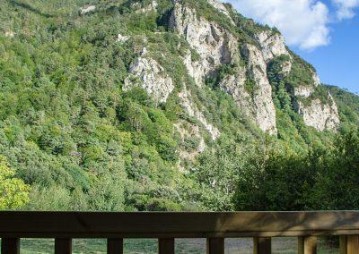 Vistas desde los bungalows de Borda Bisaltico en el Valle de Hecho