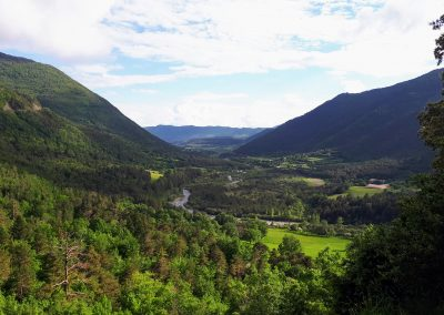 Vistas Borda Bisaltico. Valle de Hecho. Pirineos Occidentales