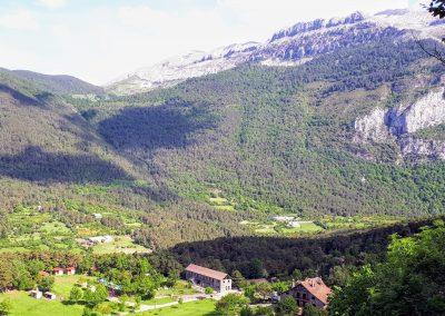 Vistas desde Lo Foraz. Valle de Hecho