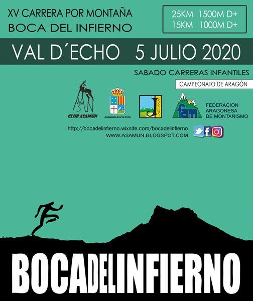 """XV Carrera por montaña """"Boca del Infierno"""". 5 julio 2020"""