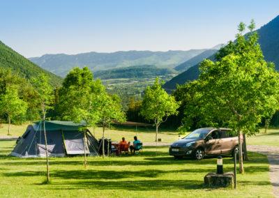 Camping Borda Bisaltico. Valle de Hecho . Pirineo Aragonés