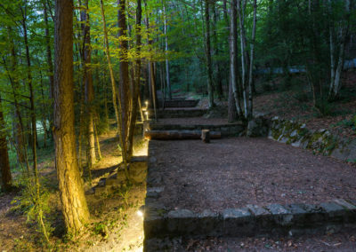 Parcelas en el bosque. Abraza a los árboles.Camping Borda Bisaltico. Valle de Hecho