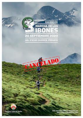 CANCELADA LA XVII Marcha de los Tres Ibones 2020